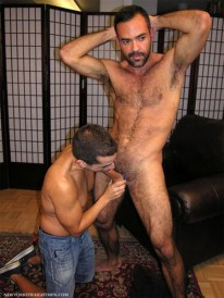 Sucking Hairy Brandon from New York Straight Men