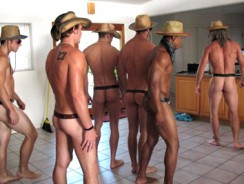 Gay Porn - Line Dancing Live from Fratpad