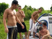Outdoor Orgy from Broke Straight Boys
