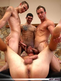 Gang Banged from Next Door Buddies