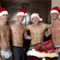 Christmas Strip Poker from Next Door Buddies