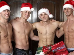 gay sex - Christmas Strip Poker from 1 Gay Pass