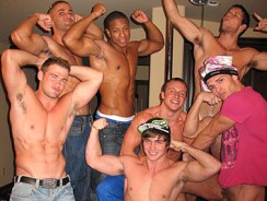 Gay Porn - Straight Boy Strip Show from Fratpad