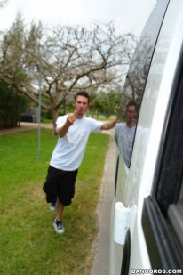 James Biehn Coming Out from Bait Bus