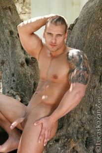 Marc Going Nude Outdoors from Lucas Kazan