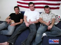 3 Way Blowjob from All American Heroes