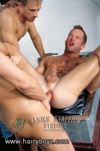 Interracial 4way from Hairy Boyz