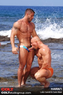 Hunks Suck At Beach from Colt Studio