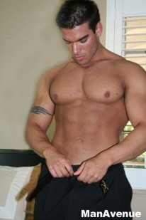 Muscle Hunk Jay from Man Avenue