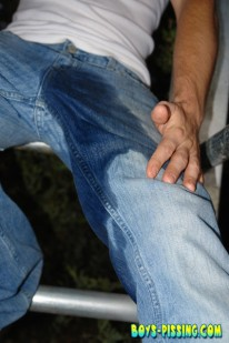 Kelly Cooper Jeans Soak from Boys Pissing