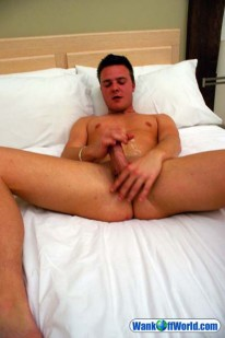 Saxon Strokes His Cock from Wank Off World