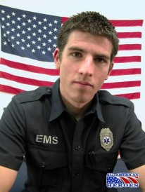 Emt Maddock Jacks Off from All American Heroes