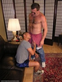 Sucking Off Coach from New York Straight Men