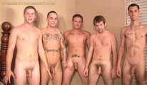5 Man Cum Party from Straight Fraternity
