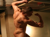 Straight Kick Boxer Peter from Uk Naked Men