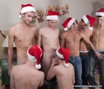 Xmas Orgy 1 from Broke College Boys