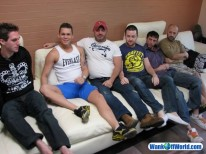 6way Group Sex from Wank Off World