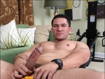 Muscle Hunk Ironman Jerks from Men Over 30