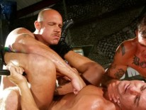 Military Hunks 3way from Hairy Boyz