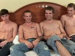 4way Oral Fun from Broke Straight Boys