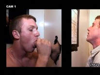 Sucking Str8 Dick from Unglory Hole