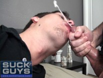 Swallowing Huge Load from Suck Off Guys