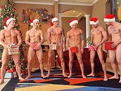 gay sex - Christmas Orgy from Next Door Buddies