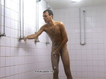 Cute Stud Showers Alone from Sneaky Peek