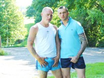 Max English And Dan Jense from Hard Brit Lads