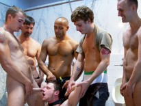 Brian Bonds Cummed from Bound In Public
