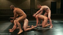 Tag Team Sex Round from Naked Kombat