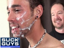 Big Cum Facial For Kilo from Suck Off Guys