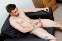 Straight Sam Strokes His Meat from Blake Mason