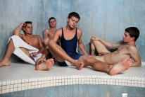 Hot Sauna Sporking from Gay Room