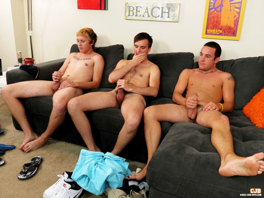 Circle jerk off jerking off