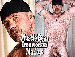Muscle Bear Ironworker Markus from The Guy Site