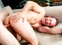 Muscular Man Dildo Foreplay from Big Daddy