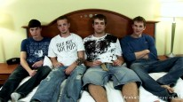 Four Way Oral Fun from Broke Straight Boys