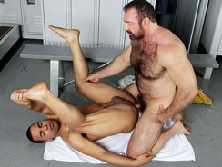 gay sex - Brad And Trelino from Hot Dads Hot Lads