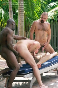 Orgy By The Pool from Hot Older Male