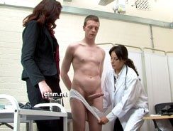 Schoolboy Clinic from Clothed Female Nude Male