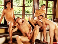 Hot Studs Secret Gabin Orgy from Raw Fuck