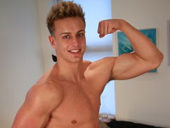 Meet Wes And His Big Muscles from English Lads