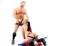 Dirk Caber Flogs Leo Forte from Bound Jocks