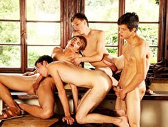 Hot Studs Secret Cabin Orgy from Raw Fuck