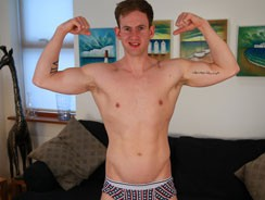 gay sex - Ryan Shows Off His Cock from English Lads