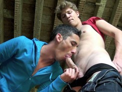 Shed Wank Turns In To Suck Se from French Lads
