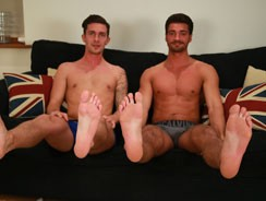 gay sex - James Sucks His 1st Cock from English Lads