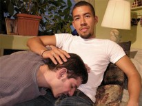 Servicing Andres from New York Straight Men