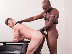 gay sex - Taut Leather from Next Door Ebony